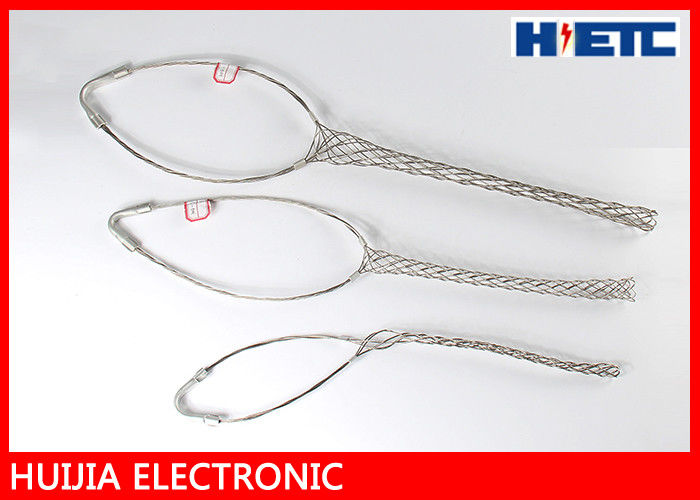 "Outdoor Stainless Steel Cable Pulling Grips Mesh , 2 - 1/4"" Feeder Cable / Antenna Wire Pulling Basket"